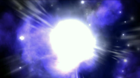 Nebula & supernova explosion in space background Stock Video Footage