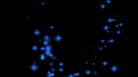 shiny particle round in sky,flare stars shaped circle &... Stock Video Footage
