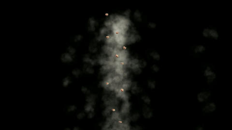 Smoky Clouds and particle Stock Video Footage