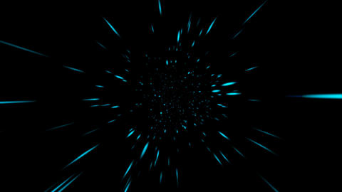 Loopable Space Travel Animation Stock Video Footage