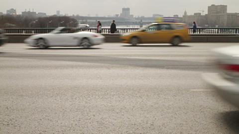 city traffic slow motion Stock Video Footage