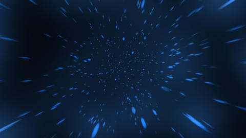 Loopable Space Travel with Blue Colour Animation CG動画