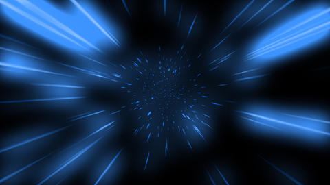 Loopable Space Travel with Blue Colour Animation Stock Video Footage