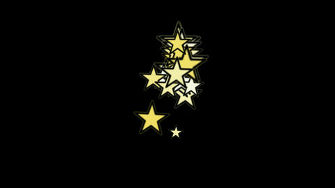 yellow stars.dream,vision,idea,creativity,vj,USA,United... Stock Video Footage