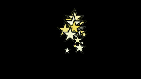 yellow stars.dream,vision,idea,creativity,vj,USA,United States.particle,art,mind Animation