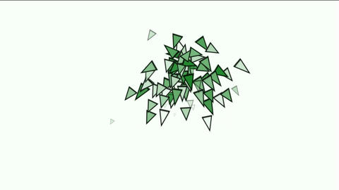 triangles card mosaics explosion falling,abstract math geometry Animation
