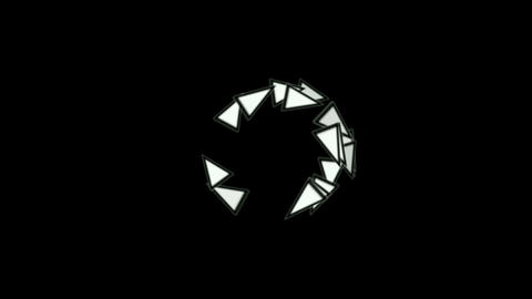 triangles card mosaics shaped rotation round,abstract... Stock Video Footage