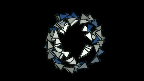 triangles card mosaics shaped rotation round,abstract math geometry Animation