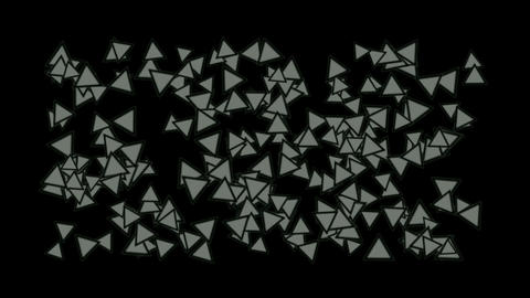 triangles block mosaics wall,game brick... Stock Video Footage