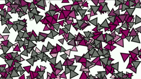 triangles block mosaics wall,game brick background,abstract math geometry Animation