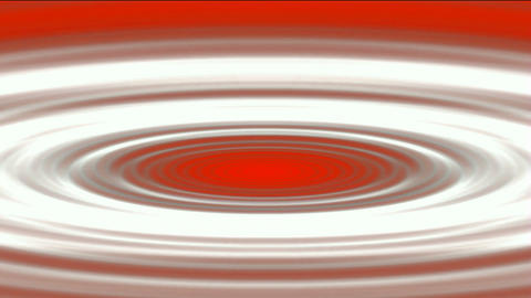 Tsunami lead to swirl ripple hole in sea,oval and round in red background Animation