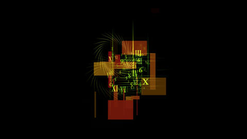 number & alphabet matrix in square wire background,higher... Stock Video Footage