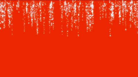 falling waterfall and liquid,fireworks in red background Stock Video Footage