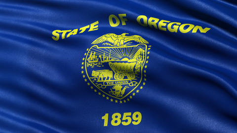 4K Oregon state flag seamless loop Ultra-HD Animation