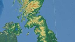 Scottish Borders (United Kingdom). Bumps shaded Animation
