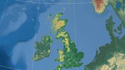 Scottish Borders (United Kingdom). Set of animations Animation