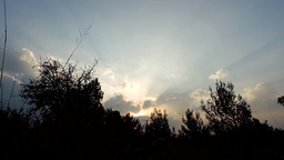 Sunset in nature with nice sunrays time lapse Footage