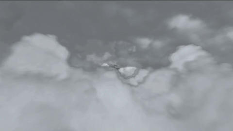 walking through the clouds Animation