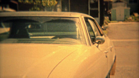 COLOMBUS, OHIO 1974: Suburban housing sprawl of the 70s with car closeups Footage