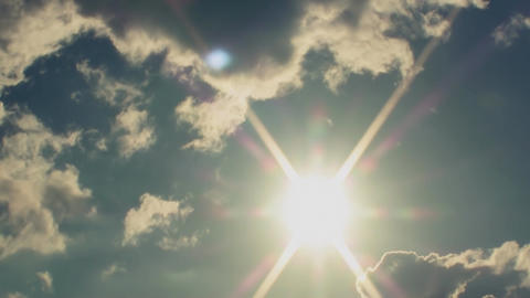 Clouds And Sun Cinematic Trailer stock footage