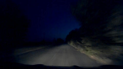 Night Mysterious Mystical Road Driving 30s Footage