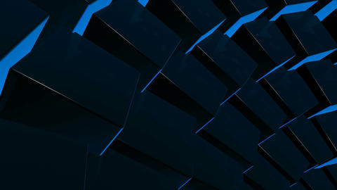 blue cube array Animation