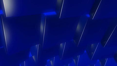 blue cubes wave Animation