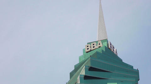 View Of BBA Sign And F&F Skyscraper Panama City Footage