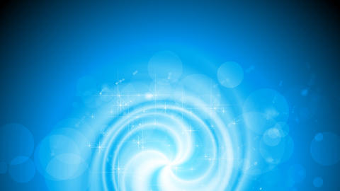 Shiny blue swirl video animation with sparks Animation