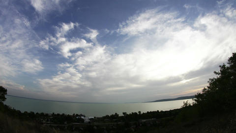 4K Lake Balaton Hungary Fisheye Timelapse 1 Footage