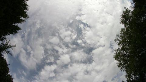 4K Late Summer Clouds Fisheye Timelapse 2 Footage