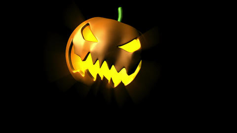 Evil Laughing Halloween Pumpkin Animation stock footage