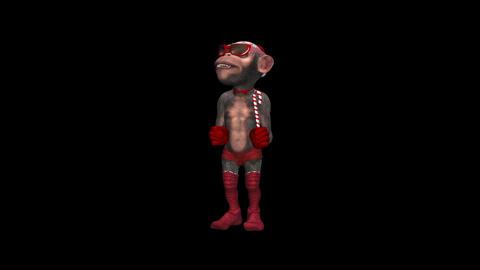 Holiday Monkey - Dancing Chimp - Loop - Alpha Animation