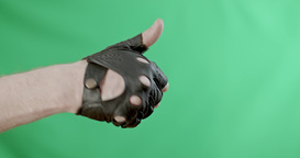 Men's Hand In A Glove Shows A Cropped Like Shot On Sony PMW F-55 Digital Cinema  stock footage