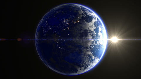Earth B 2 Sun 4 K Animation