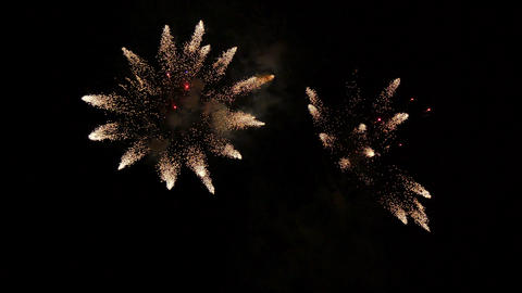 Party Fireworks Rockets at Night 4k Footage