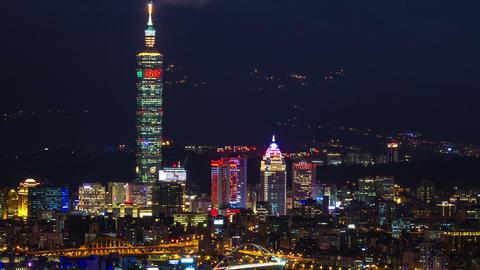 Sny 21225 P 03 Mzo 12all 台北城與101大樓 Pe Shan Yan Over Look Taipei City Footage