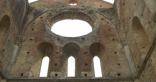 san galgano abbey interior 03 Footage
