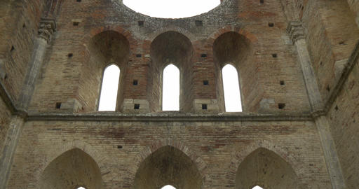 san galgano abbey interior 02 Footage