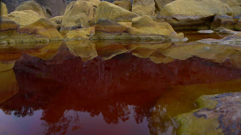 Red Pond Water stock footage