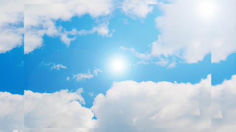 Animation of the sky and sun Animation