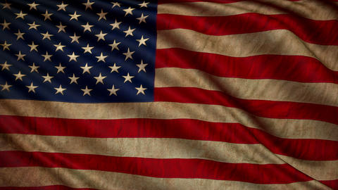 OLD USA flag still GIGANT 4k loop Animation