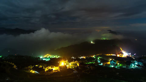 SNY 30125 P 11 12all 嘉義隙頂雲霧之美 The Beautifull Mountain Mist In Ta stock footage