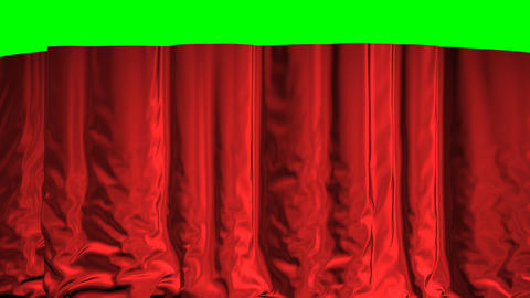 Falling Curtain On A Green Background Stock Video Footage