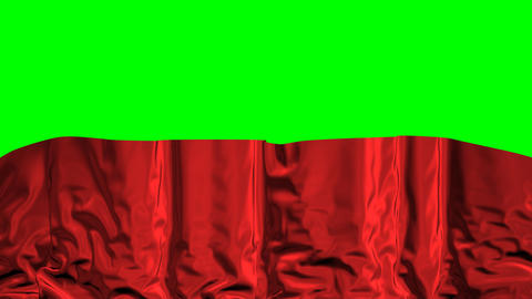Falling Curtain On A Green Background Animation