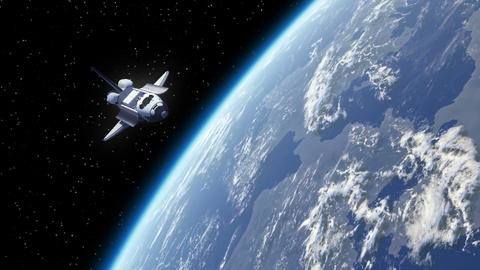 Space Shuttle Orbiting Earth stock footage