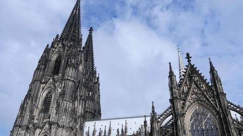 Cologne Cathedral stock footage