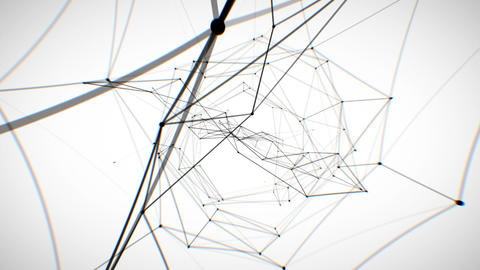 Abstract Network Looped Animation. HD 1080 stock footage