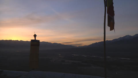 Landscape of ladakh at Dusk Footage