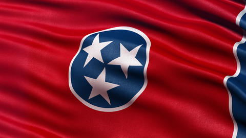 4K Tennessee state flag seamless loop Ultra-HD Animation